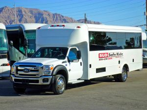 bus for wine tours and wedding transportation